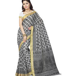 Buy multicolor printed cotton saree With Blouse below-500 online