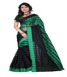 Buy Green printed art silk saree With Blouse below-400 online