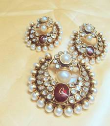 Buy designer pearl polki pendent Pendant online