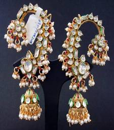 Buy Kundan Karan Phool Earrings jhumka online
