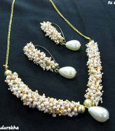 Buy White_Ghungroo_Set necklace-set online