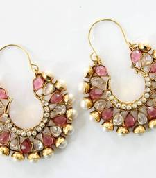 Buy ANTIQUE GOLD PLATED CZ STONES BALI hoop online