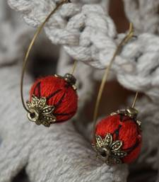 ethnic red dazzling hoops shop online
