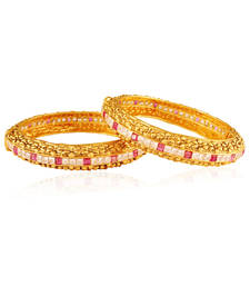 Buy Amaze Gold plated american diamond bangle bangles-and-bracelet online