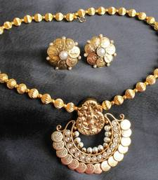 Buy BEAUTIFUL GOLD PLATED PEARL RAM LEELA NECKLACE SET necklace-set online