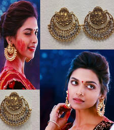 Buy Original Ram leela / Ramleela Earrings in White Stones danglers-drop online