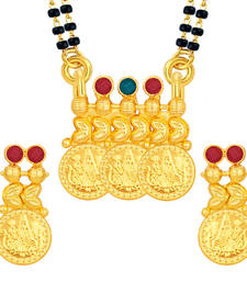Buy Traditionally Laxmi Temple Coin Gold Plated Mangalsutra Set For Women mangalsutra online