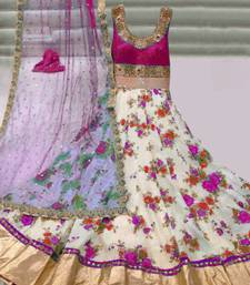 Buy Pink Silk embroidered semi stitiched salwar with dupatta party-wear-salwar-kameez online