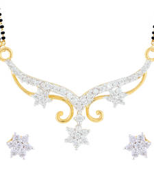 Buy White gold plated mangalsutra set mangalsutra online