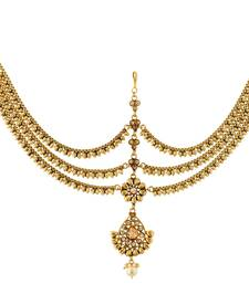 Buy High Quality Gold fashion Matha Patti For Women maang-tikka online