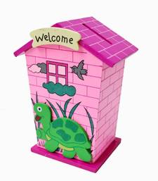 Buy Wooden Colourful Piggy Bank kid online