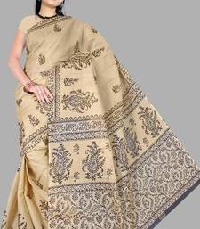 Buy Pavechas Mangalgiri Printed Cotton Sari  - Kitkat MK250 cotton-saree online