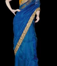 Buy Blue organza organza-saree online