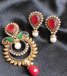 Buy GORGEOUS ANTIQUE PEACOCK PENDANT SET Pendant online