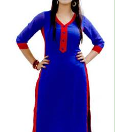Buy blue cotton stiched kutis kurtis-below-300 online