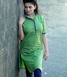 Buy green cotton stiched kutis kurtis-below-300 online