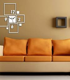 Buy White square wall clocks wall-clock online