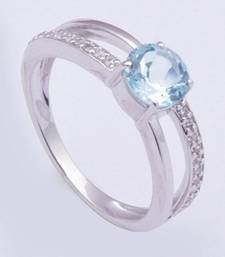 Buy Silver Topaz   rings Ring online
