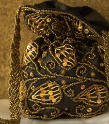 Buy Designer Potli Bag Clutch Handbag Purse Traditional Wedding Indian Handmade Ethnic Beads Sequins Zardozi Work potli-bag online