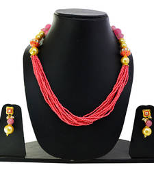 Buy Traditional pink chid mala necklace set necklace-set online