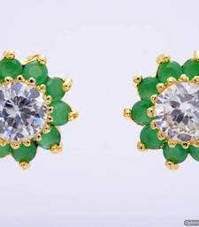 Buy BEAUTIFUL DAILY WEAR STONE STUDDED SUN TOPS/EARRINGS/STUDS (AD EMRALD) - PCE1038 stud online