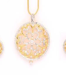 Buy Gold plated CZ diamond pendant jewelry Pendant online