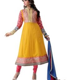 Buy Triveni Bright colored embroidered Salwar Kameez 16677 dress-material online