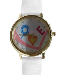 Buy White desiner watch gifts-for-sister online