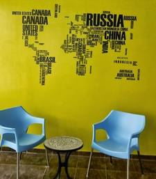 Buy World Map Wall decal  wall-decal online