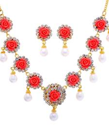 Buy NATURAL PEARLS SET FROM HYDERABAD JEWELS necklace-set online