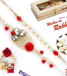 Buy Bhaiya Bhabhi Rakhi Set with Metal Filigree work rakhi-international online