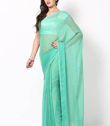 Buy Green Chiffon Printed Saree chiffon-saree online