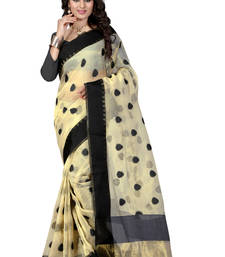 Buy Black hand woven ORGANZA  saree With Blouse organza-saree online