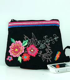 Buy Neon Floral Embroidered Coin Purse sling-bag online