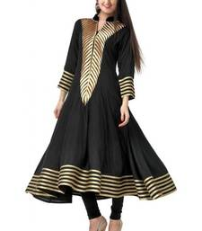 Buy black georgette anarkali semi stitched kurti kurtas-and-kurti online