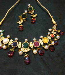 Buy Design no. 8 b.1214 a....Rs. 12500. Pre order set. Will be made in 15 days after confirm order. Necklace online