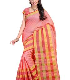 Buy rose hand woven katan silk saree With Blouse kota-silk-saree online