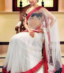 Buy DIPIKA IN WHITE NET deepika-padukone-saree online