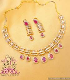 Buy Beautiful Ruby Necklace Set Necklace online