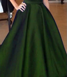 Buy Green satin plain free size skirts skirt online
