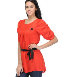 Buy Red viscose tops party-top online