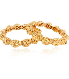 Buy Finesse class gold plated american diamond bangle bangles-and-bracelet online