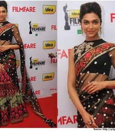 Buy Deepika Black Flimfare  beauty  deepika-padukone-saree online