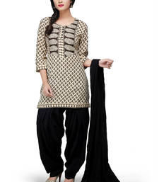 Buy Beige printed rayon readymade salwar with dupatta readymade-suit online