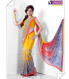 Buy amazing Yellow Saree printed-saree online