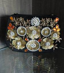Buy Regalia Couture Label Velvet Antique Baroque Work Clutch clutch online