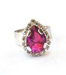 Purple Drop Diamond Ring