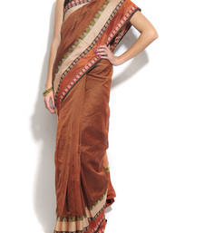 Buy Banarasi Supernet Cotton Border Saree cotton-saree online