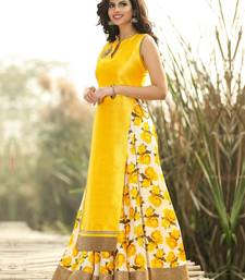 Buy Designer yellow color semi stiched lenghacholi ghagra-choli online