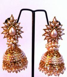 Beautiful pearl jhumka with chandni Pearls   shop online
